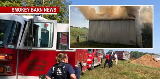 "Firefighters Make ""Good STOP"" On Tobacco Barn Fire"