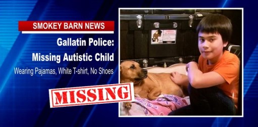 MISSING CHILD ALERT: Boy (Age 12) Autistic Gallatin Area