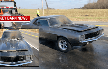 69 Camaro Ignites In Springfield Thanksgiving Day