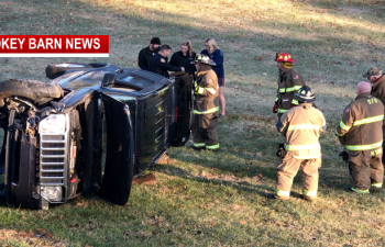 Driver OK After Rollover Crash Thanksgiving Day