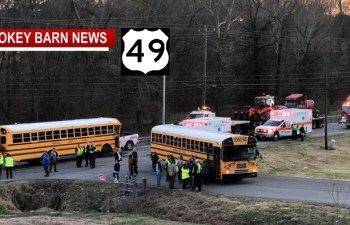Two RC School Buses & A Pickup Collide, Minor Injuries Reported