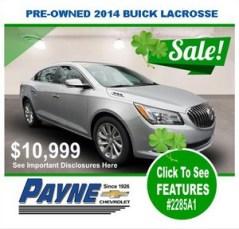 Payne 2014 Buick Lacrosse 2285A1