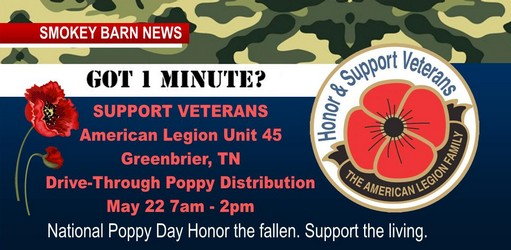 Friday->Greenbrier American Legion To Host Poppy Distribution Drive-Thru May 22