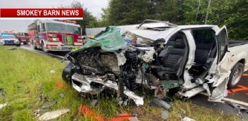 Driver Pinned After 3 Vehicle Head-On Crash On Hwy 12