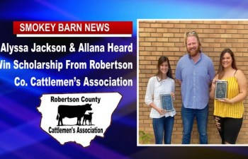 Alyssa Jackson & Allana Heard Win Rob. Co. Cattlemen's Association Scholarship