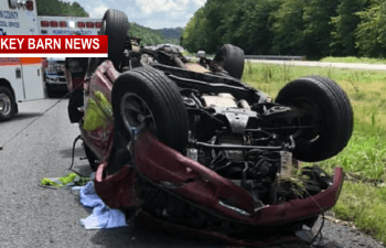 I-65 North Slow Following Rollover Crash Sunday