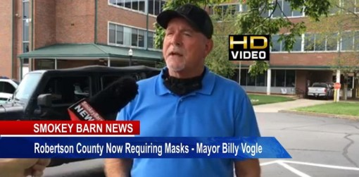 Robertson County Now Requiring Masks- Mayor Billy Vogle