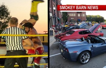 Fast Cars And Wrestling Entertain Pleasant View Residents Saturday