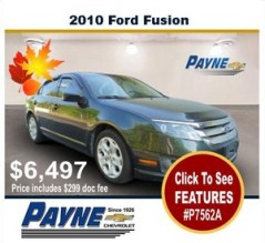 Payne 2010 ford fusion p7562A