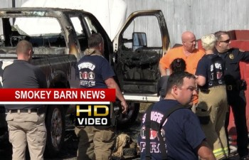 Pickup Ignites Across From Springfield Police Station