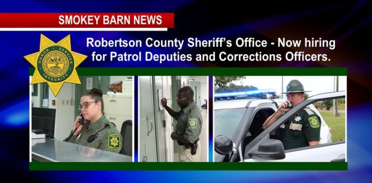 "Robertson Sheriff's Office: ""Join Our Team"""