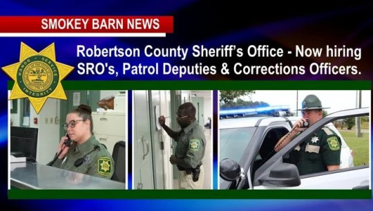 Rob. Co Sheriff's Office: Join Our Team Of SRO's, Deputies & Corrections Officers