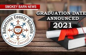 Graduation Dates Announced For Robertson County Schools