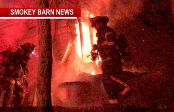 Area Firefighters Attack Engulfed Home Near Millersville