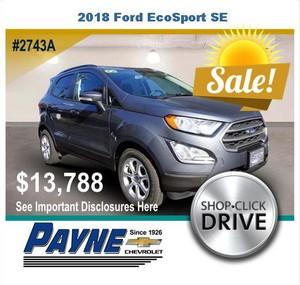 Payne 2018 Ford Ecosport SE 2743A