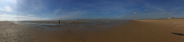 Panorama of Crosby beach