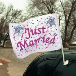 """Example of """"Just Married"""" Flag"""