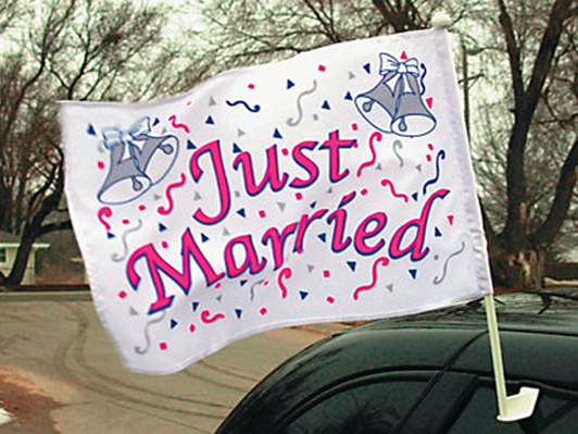Smoky Mountains Just Married sign