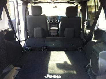Cargo space. In a Jeep.