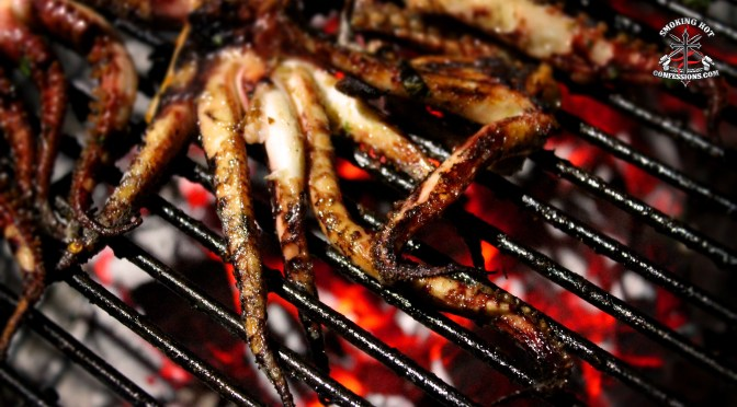 Grilled Space Alien – AKA BBQ Squid…