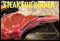 cowboy steak for dinner