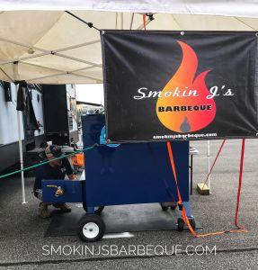 Smokin J's Barbeque banner in Douglas