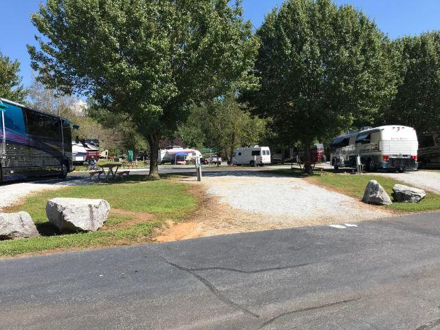 Campsite at River Vista RV Resort Dillard, Georgia