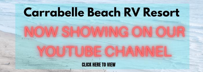 Carabelle beach rv resort youtube banner