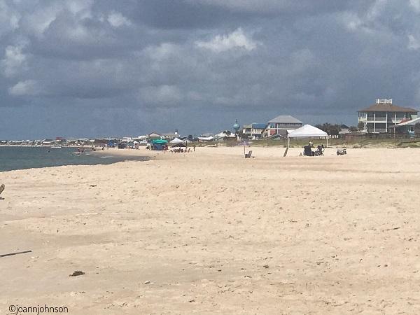 Fluffy sand at St. George Island