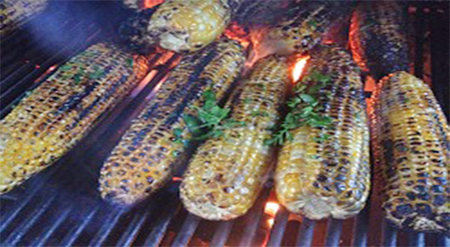SMOKY, CHARRY, FRESH CORN ON THE COB