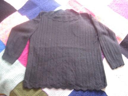 Mama strickt schwarzer Pulli