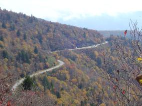 Photo - View of the Blue Ridge Parkway from Waterrock Knob overlook