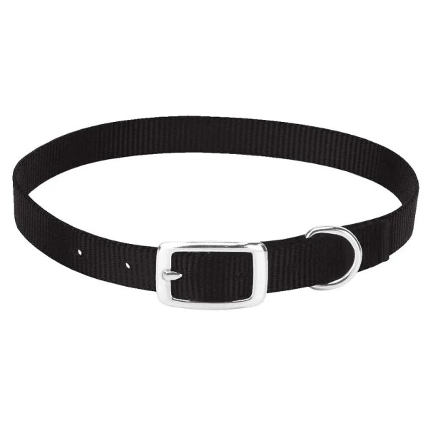 357090BK, 357091BK, 357092 Nylon Goat Collars, Black