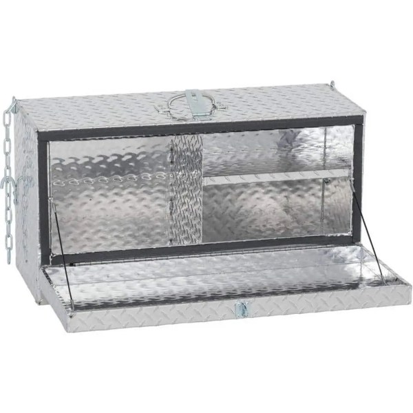 695060 Mini Deep Hanging Showbox Aluminum Treadplate