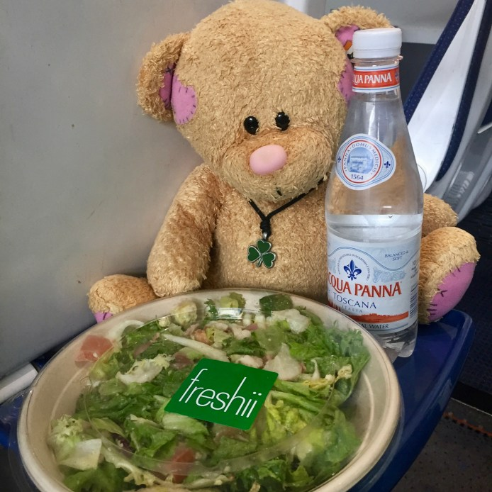 Saoirse picked up a cobb salad to go for our train trip to Killarney. The LUAS outside the CHQ took us right to Heuston Station.