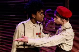 Othello (AJ Uwajeh) and Iago (Ashlea Kaye)