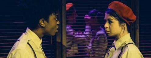 Othello & Iago prepare for the eavesdropping scene. Photo: Richard Davenport