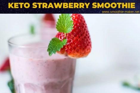 keto strawberry smoothie