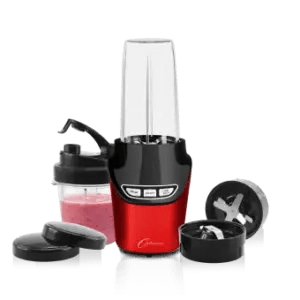 Optimum Froothie Vortex NutriForce Extractor blender in red