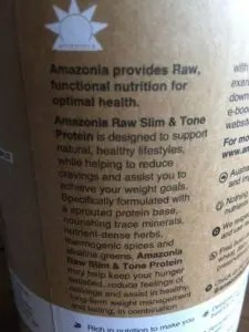 Amazonia Raw Slim&Tone Protein Powder description