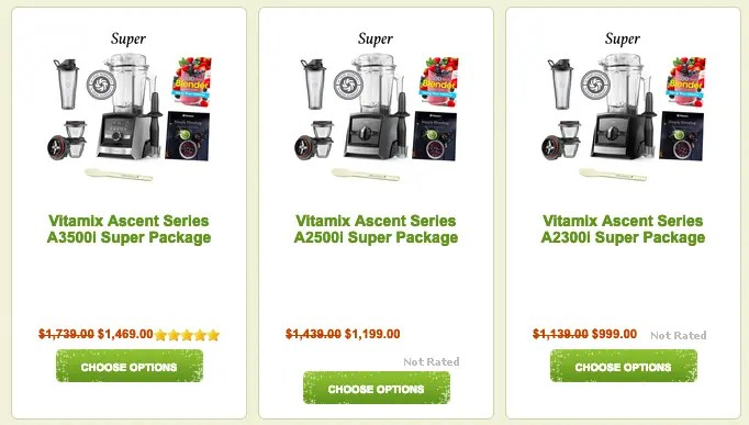 Rawblend-Vitamix-Ascent-Packages