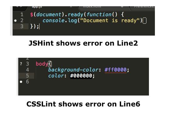 SublimeLinter-jsHint and SublimeLinter-cssLint