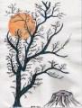 Dead tree blue