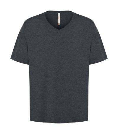 Customizable Unisex V-neck T-shirt - Charcoal Heather