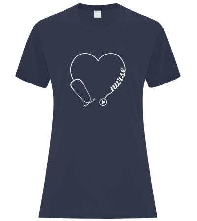 We Heart Nurses Custom Ladies Tshirt