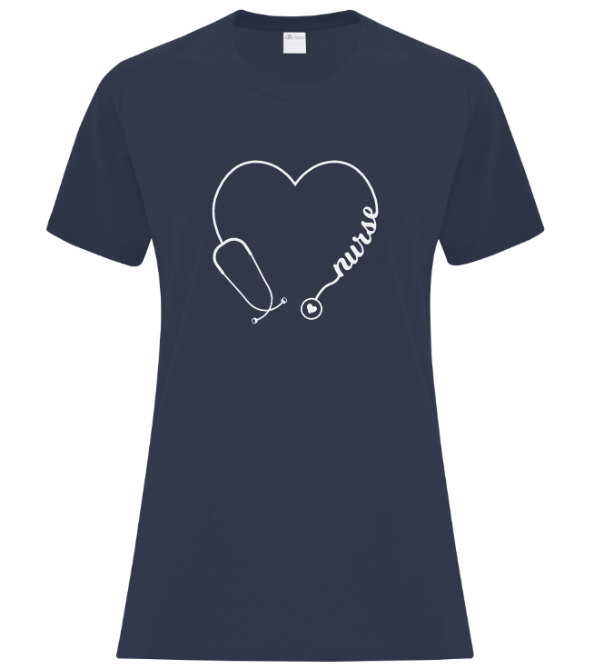 We Heart Nurses Custom Ladies Tshirt