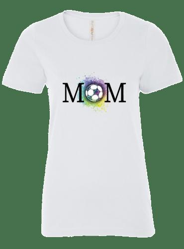 Soccer Mom Tee in White