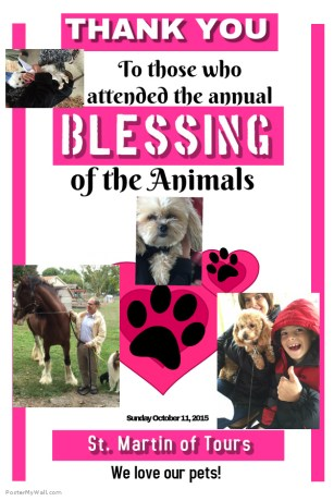 Blessing of the Animals Poster 2015