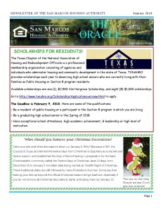 thumbnail of SMHA Oracle – January 2018