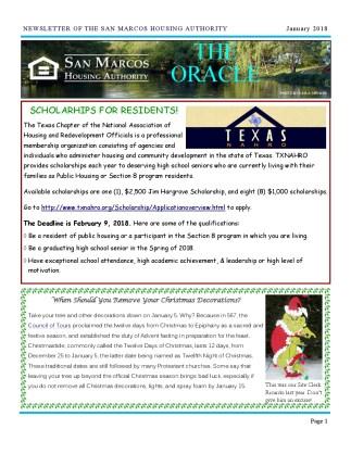 thumbnail of SMHA Oracle – January 2018